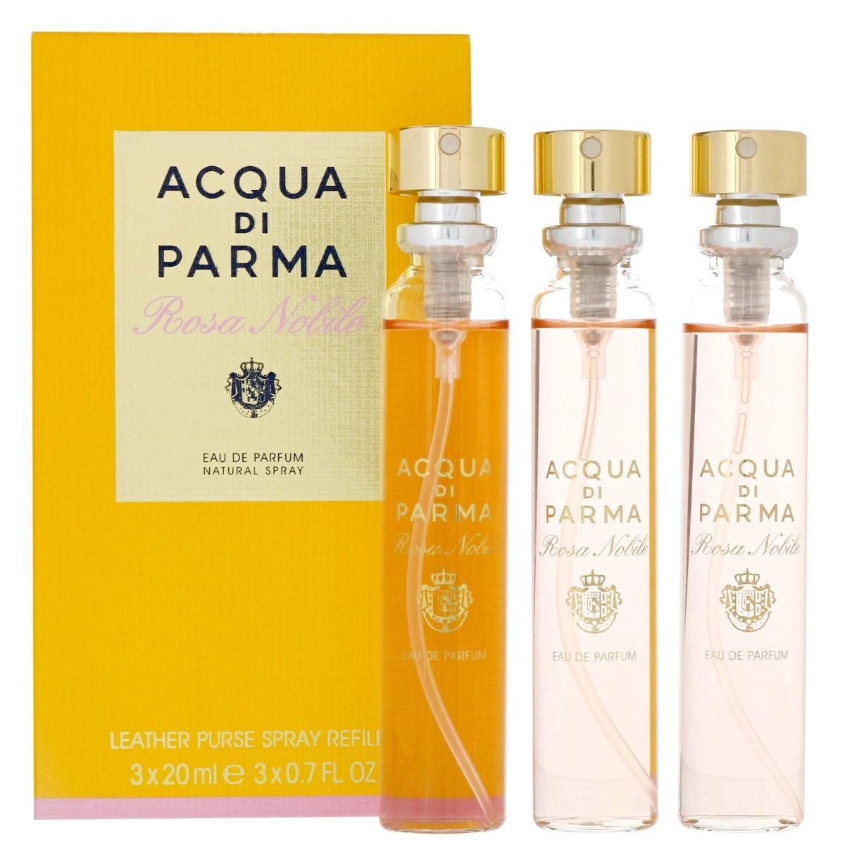 Acqua Di Parma Rosa Nobile Leather Purse Spray Refill 3 x 20ml