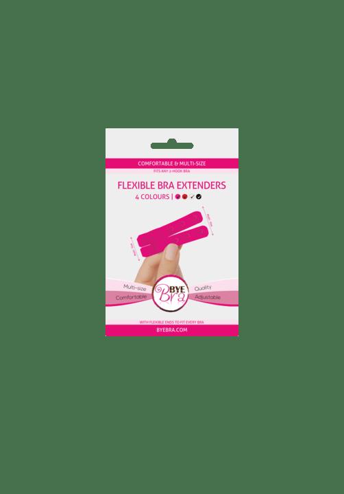 Bye Bra Flexible Bra Extenders 2-Hook Pink