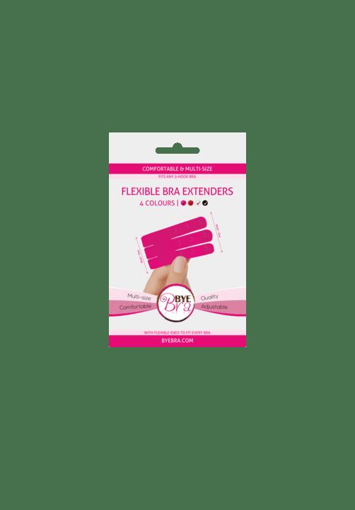 Bye Bra Flexible Bra Extenders 3-Hook Pink