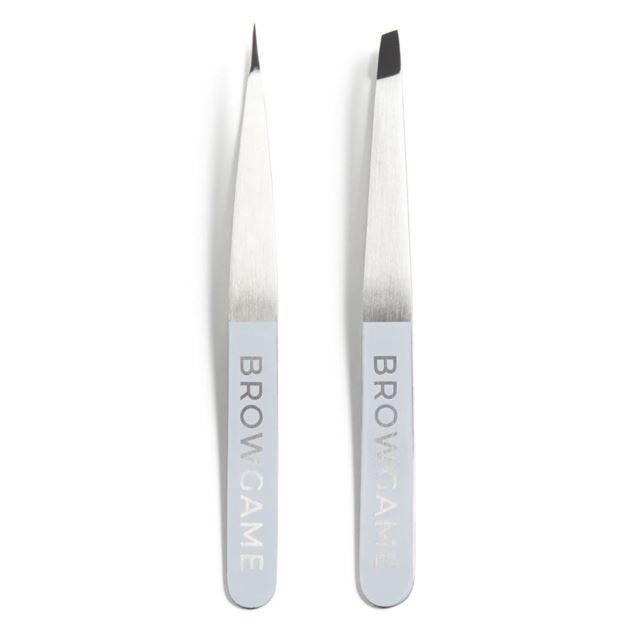 Browgame Cosmetics Duo Pack Tweezer Pointed & Slanted 2 st