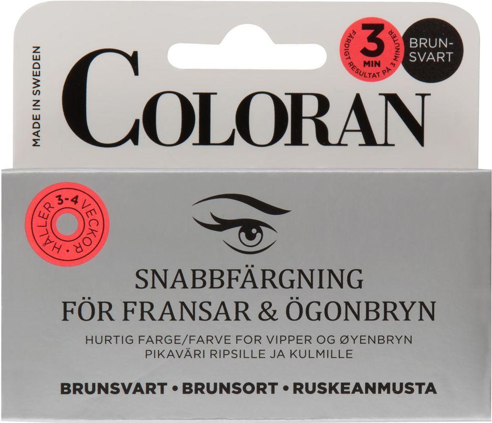 Coloran snabbfärgning, brunsvart