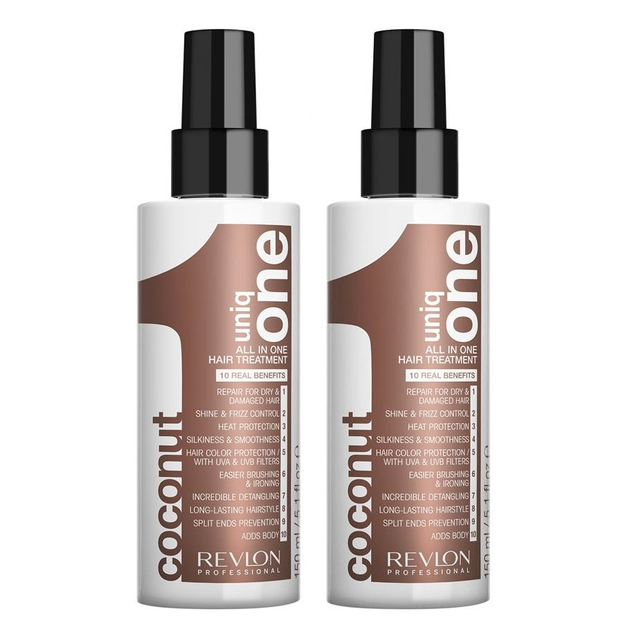 2-Pack UNBOXED Revlon Uniq One All In One Hair Treatment Coconut 150ml