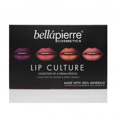 Bellapierre Lip Culture Collection 4 Cream Lipsticks