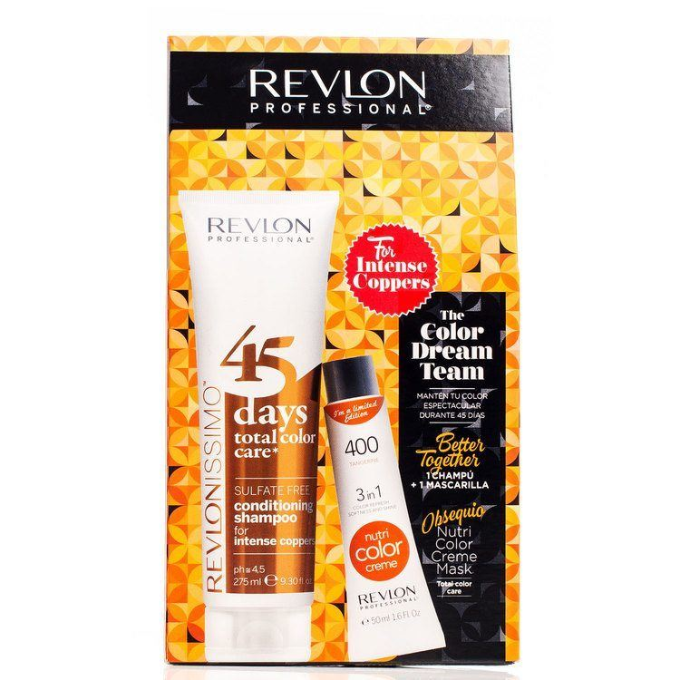 Revlon The Color Dream Team 400 Tangerine 50ml +  45 Days Total Color Care 2in1 Intense Copper 275ml