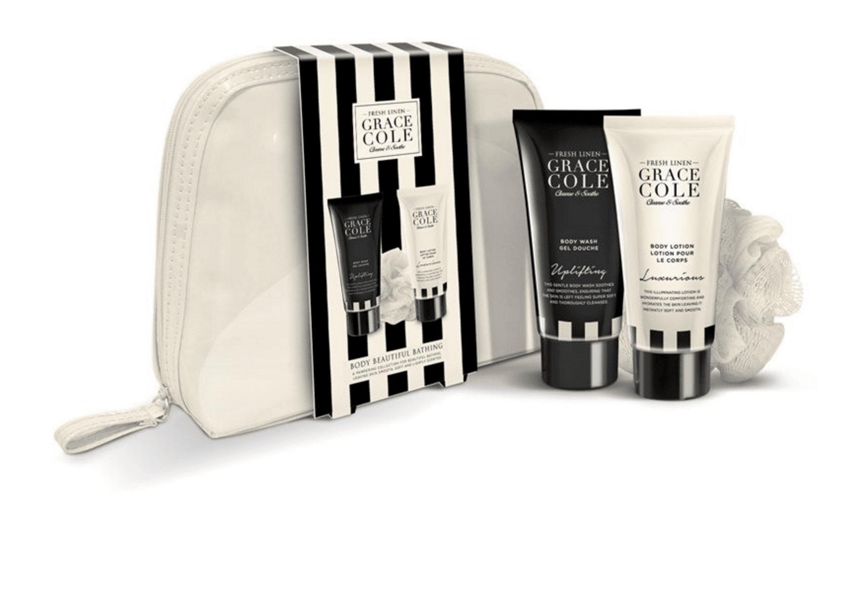 Grace Cole Fresh Linen Bathing 4 pcs Cosmeticbag Set