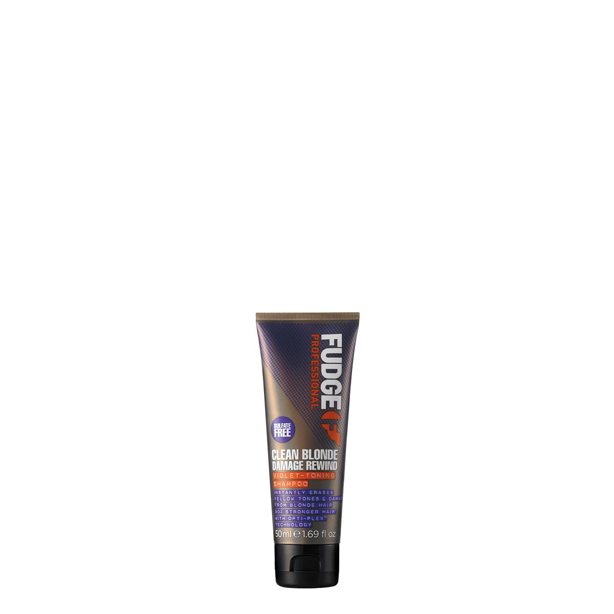 Fudge Clean Blonde Damage Rewind Violet Shampoo 50ml