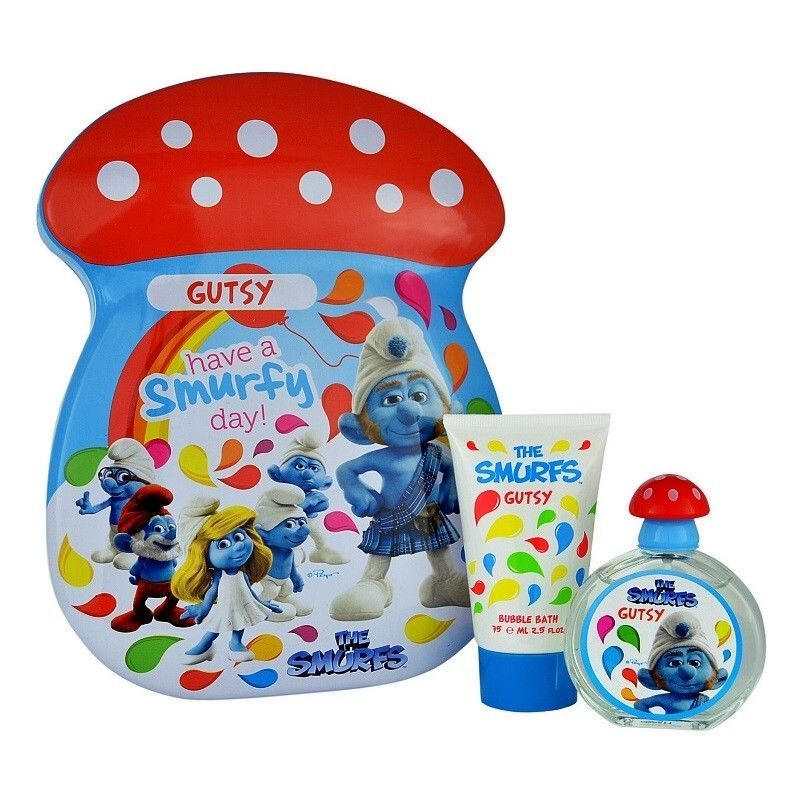 The Smurfs Gutsy Giftset Edt 50ml  + 75ml Bubbelbath