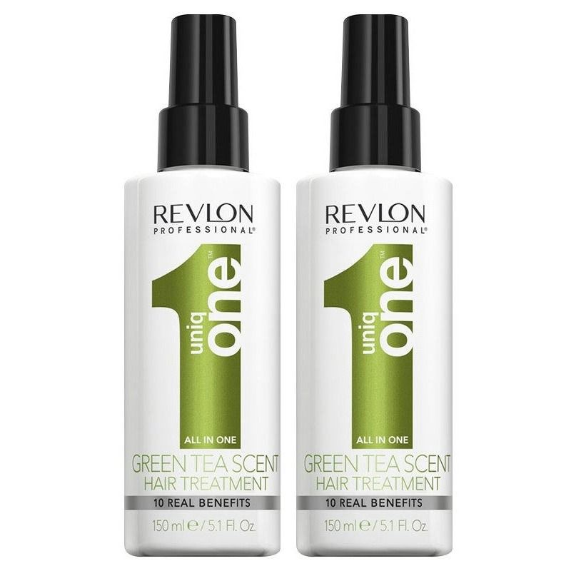 2-Pack UNBOXED Revlon Uniq One All In One Hair Treatment Green Tea Scent 150ml